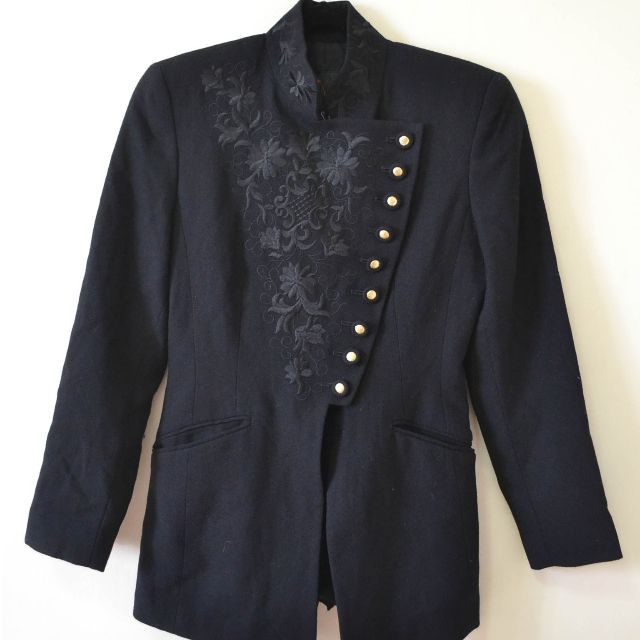 Jessica Wool Black Blazer Size USA 2/Euro30/UK 4