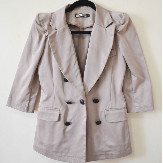 Juicy Club Beige Blazer Size Large but Fits Medium