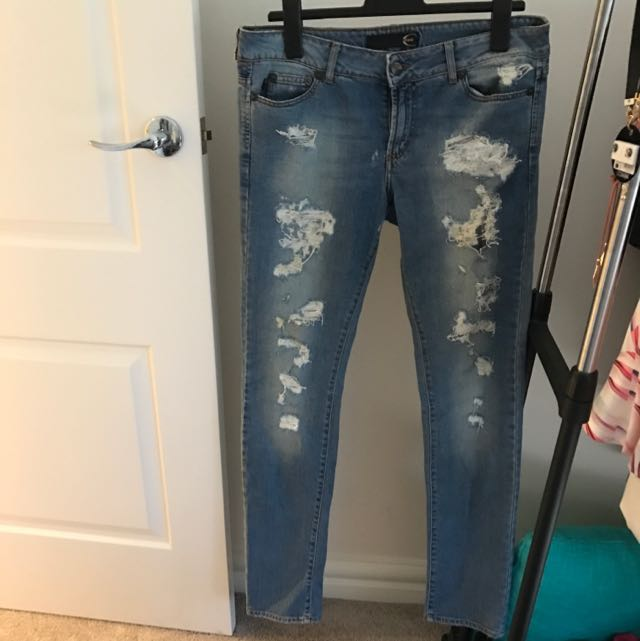 Just Cavalli Ripped Jeans