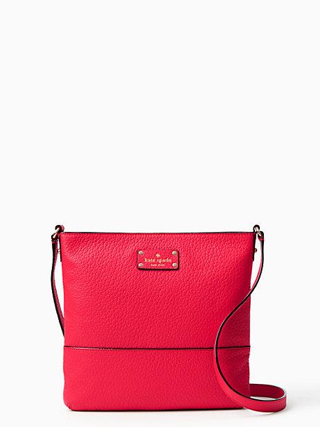 Kate Spade bay street cora crossbody bag- Cherry Red