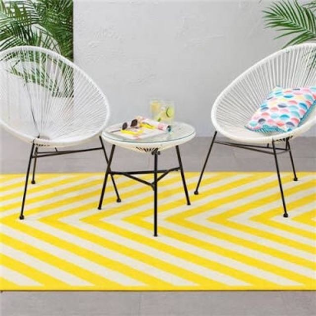 KMART CHAIRS + TABLE