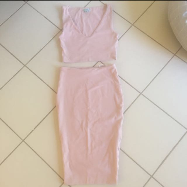 Kookai Set (Cropped Top And Skirt) Size 1