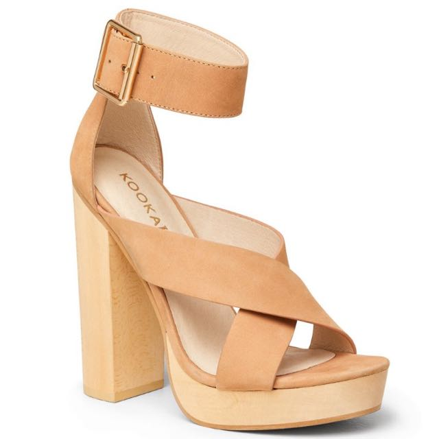 Kookai 'Jennifer' Wedges (tan)