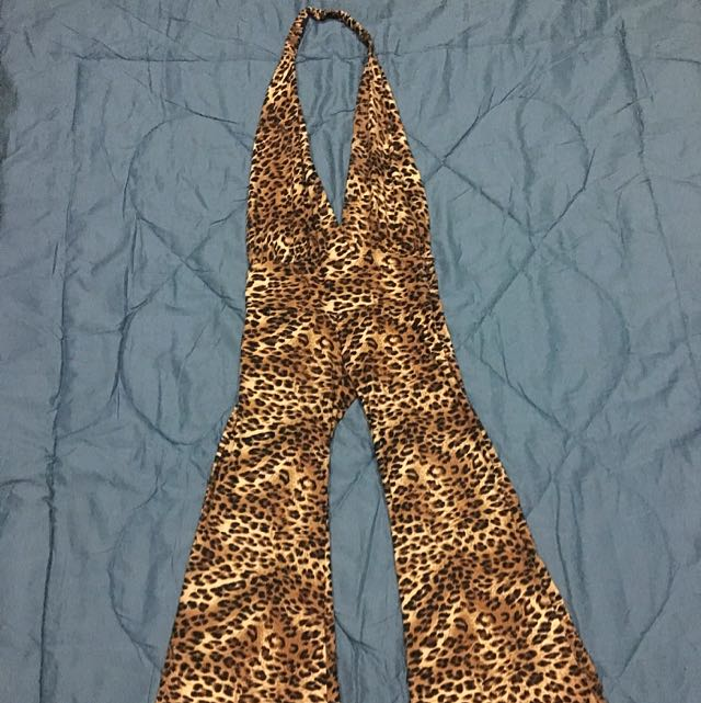 long jumpsuit leopard