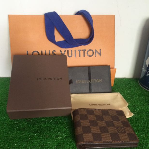 Louis Vuitton multiple wallet N60895 Damier棋盤格短夾