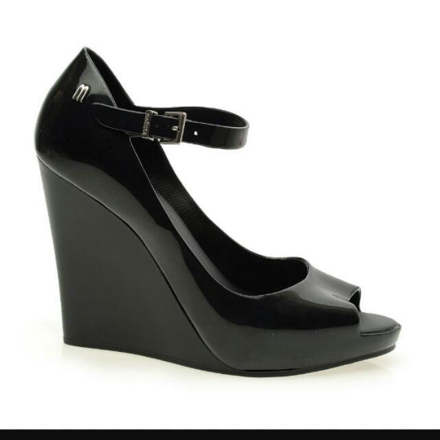 Melissa Prism Black Wedge Style