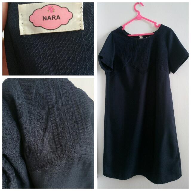 Mini Dress Biru Dongker