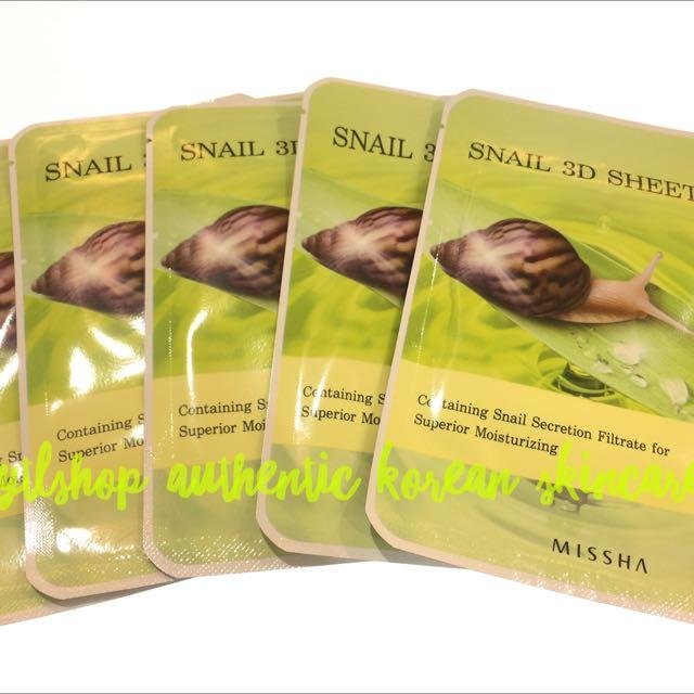 Missha 3D Snail Mask