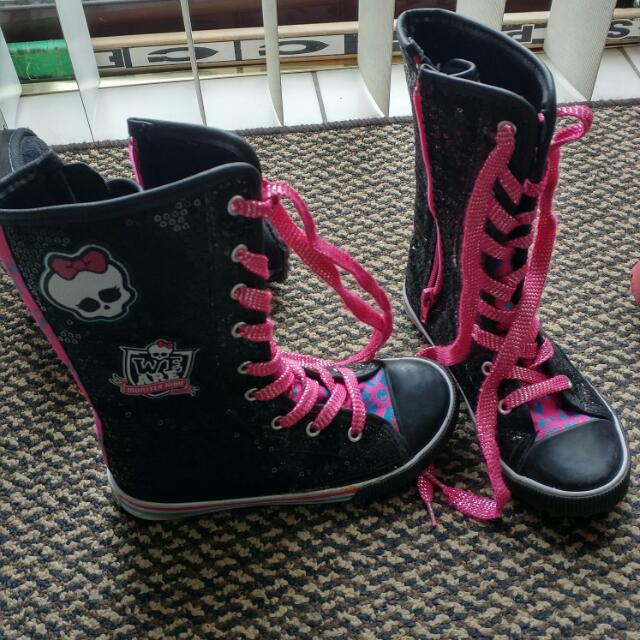 Girls Monster High Shoes Size 13