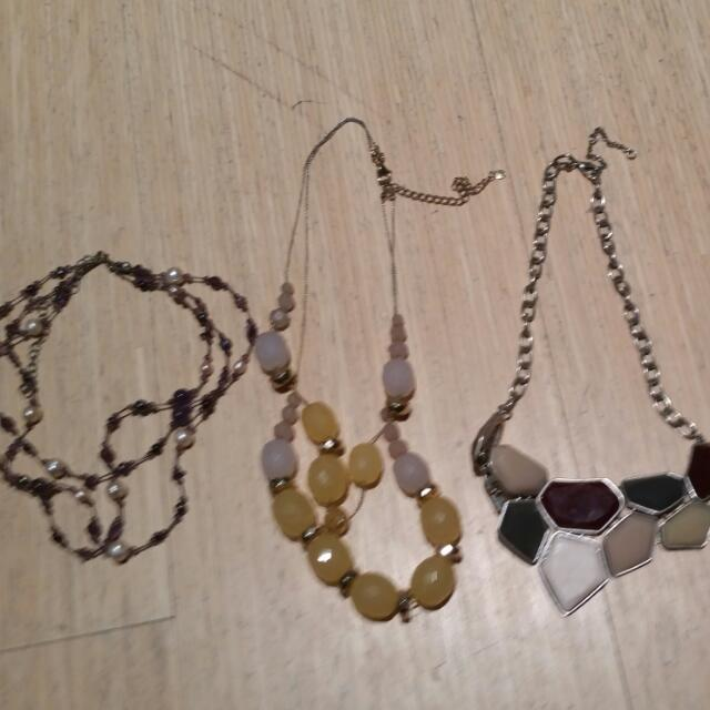 Necklaces (Short And Long) and Bracelets