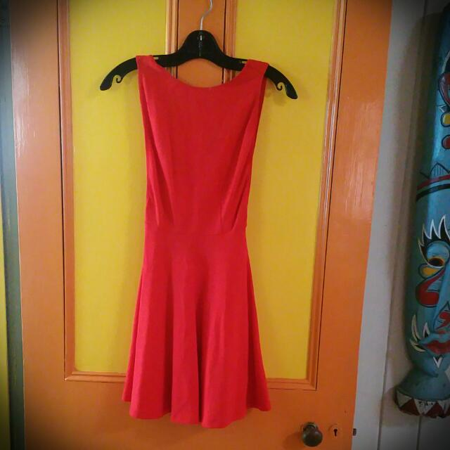 New American Apparel Ruby Red Dress