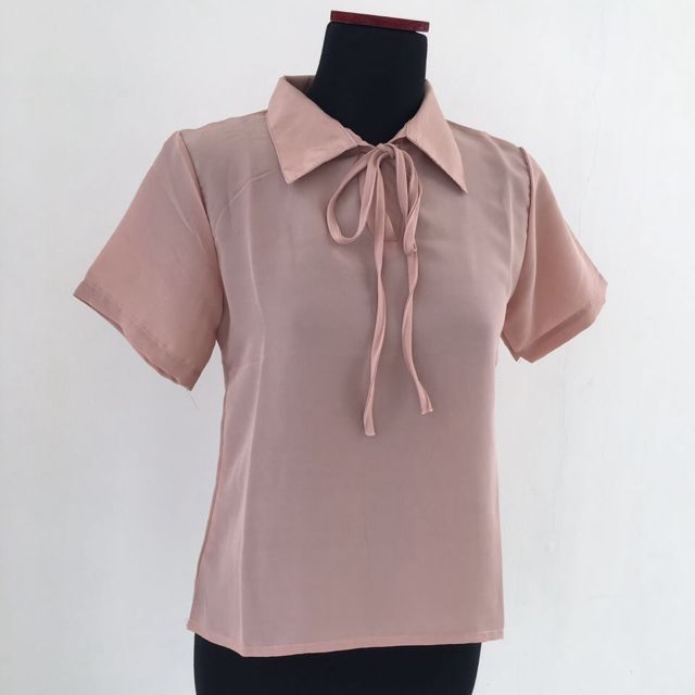 Nude Ribbon Top