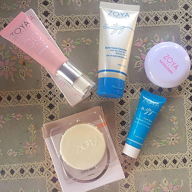 Paket Zoya Cosmetics (Two Way Cake Refill Shade Translucent, Cc Cream, Dark Spot Acne, Loose Powder, Facial Wash), Olshop Fashion, Olshop Produk Kecantikan ...