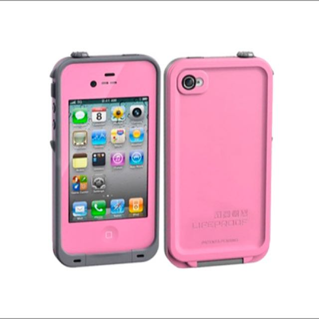 Pink Lifeproof IPhone 4s Case