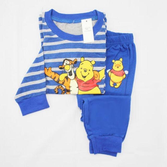 Piyama  Baju tidur Hongkong GAP Tigger Pooh blue stripes 2-7 Y a18d726d14