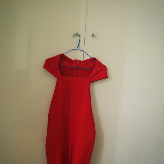 Red Bandage BodyCon Dress (size 8)