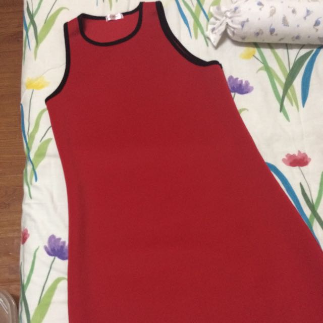 Red Bodycon Dress Fits M-L