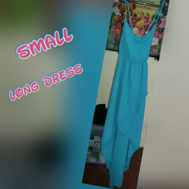 Repriced Long Back Dress
