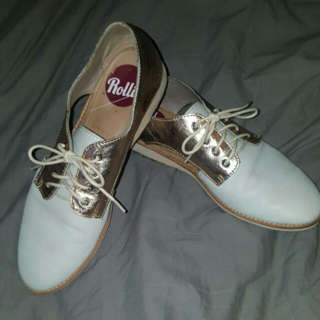 Rollie Off White Gold Brogues