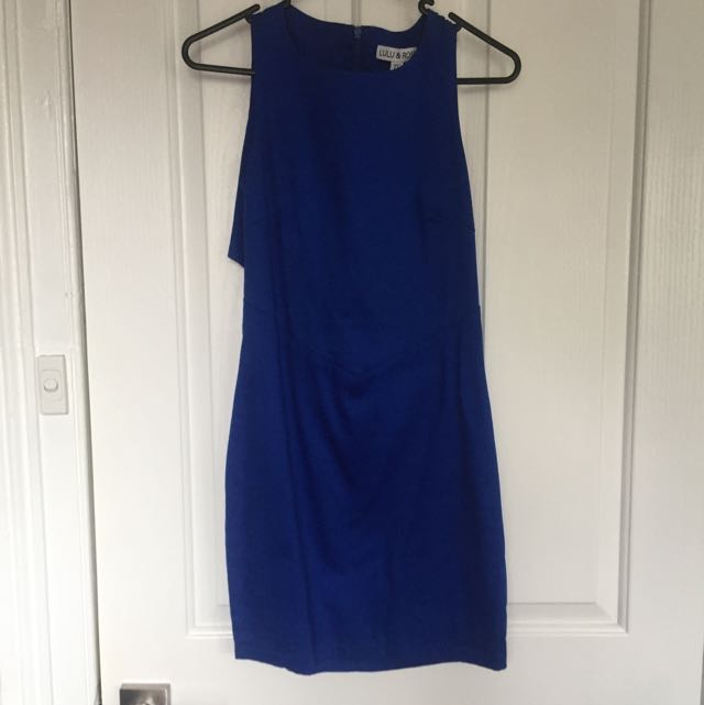 Royal Blue Lulu And Rose Dress With Back Cut Out Size XS/6