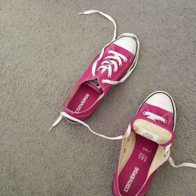 Size 8 Pink Converse Shoes