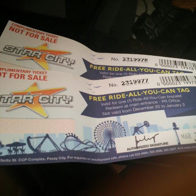 Star City Ride-All-You-Can Tickets