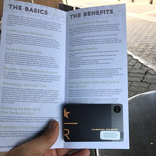 Starbucks Reserve Card Limited