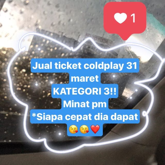 TICKET COLDPLAY 31 Maret