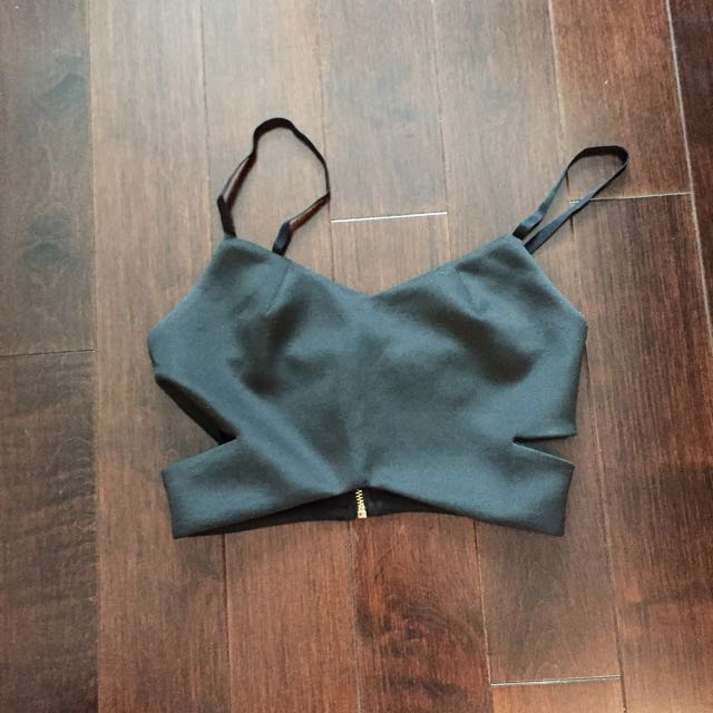 Topshop Crop Top (Side Cut Outs)