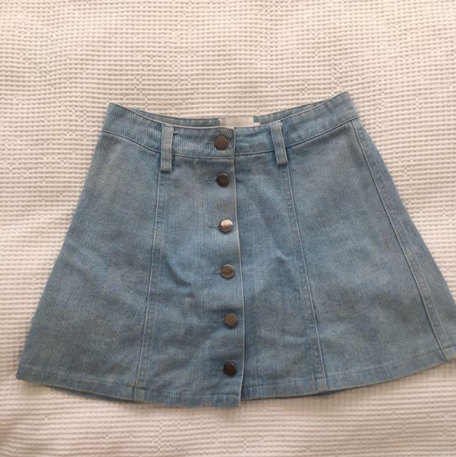 Verge Girl Mini Denim Skirt