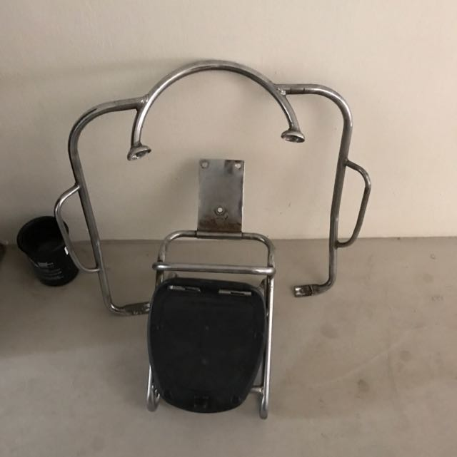 Vespa Px150 Back Rack With Box And  Front Crash Bar