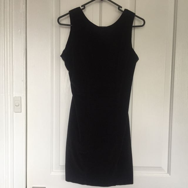 Wrangler Suede Dress With Cut Out Back Size 6