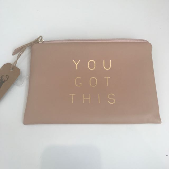 """You Got This"" Makeup Bag/ Pencil Case"