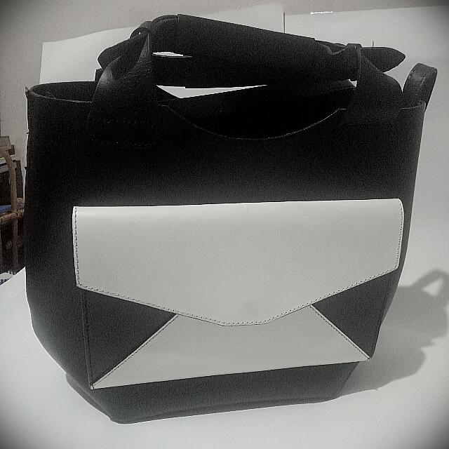 Repriced ZARA Leather Bag