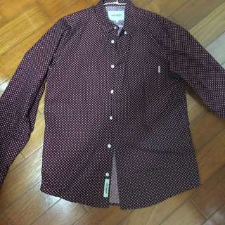 Carhartt 紅底白點襯衫