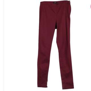 H&M Maroon Denim Pants