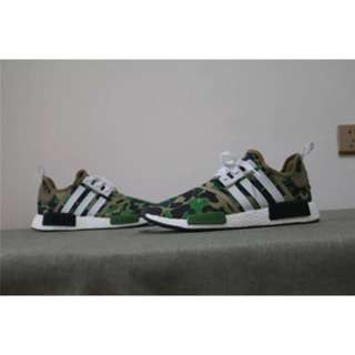 Bape x Adidas NMD R1 Green Camo (all Sizes Available)