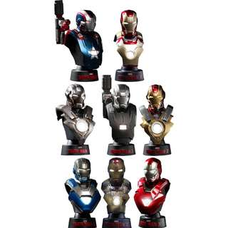 IronMan - Deluxe Set Marvel Collectible Bust 11 cm - Hot Toys'