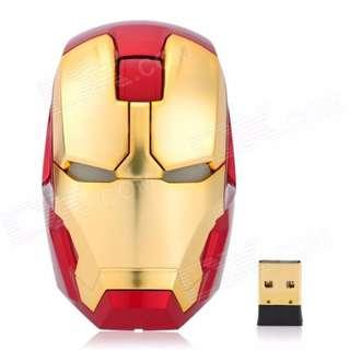 Ironman Theme Wireless Mouse With Led Light Marvel Avengers Iron Man