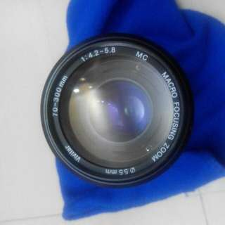 Vivitar 70-300mm F4.2-5.8 Nikon Mount Full Frame Manual Zoom Macro