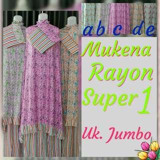Mukena Rayon Super Jumbo