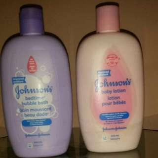 Baby Lotion and Bubble Bath. Both $7