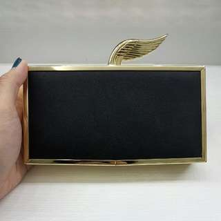 ZARA Woman Gold Wing Clutch