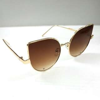 Brown Cat Eyes Sunglasses