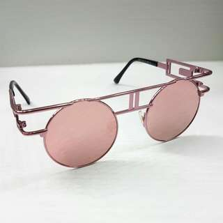 Rose Gold Steampunk Polarized Sunglasses