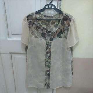 Samlin chiffon printed blouse