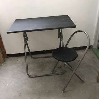 Foldable Study Table With Chair