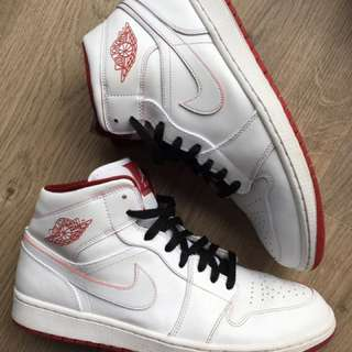 Jordan 1 White And Red