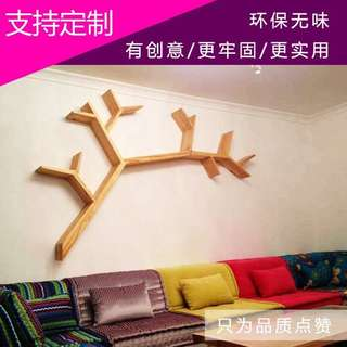 tree wall mounted shelf