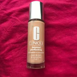 Clinique beyond and perfecting foundation